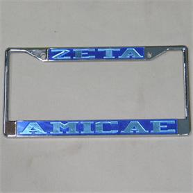 Zeta Amicae Mirror Acrylic letterd License Frame - Adgreek